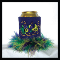 Ready to Ship Mardi Gras Can Coolers