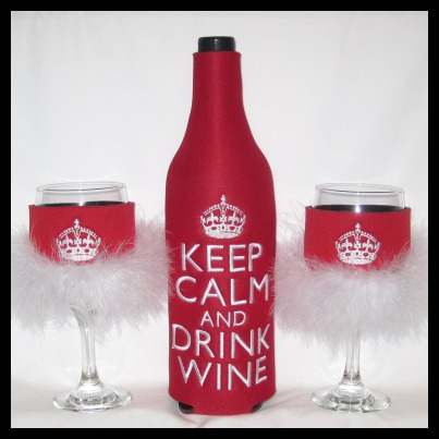 Ready to Ship KEEP CALM AND DRINK WINE Set