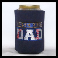 Ready to Ship BASEBALL DAD Can Cooler