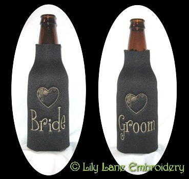 Bride & Groom Longneck Coolers