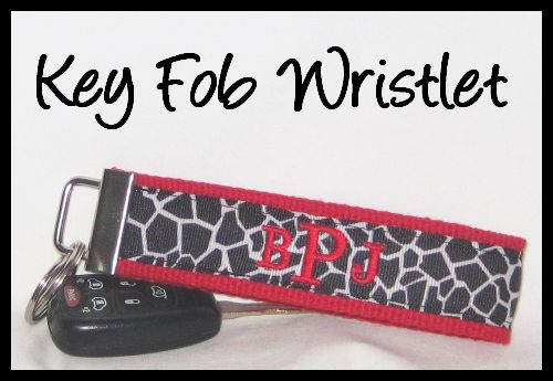 Personalized Key Fob Wristlets or Personalized Luggage Tags