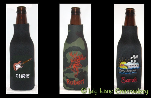 Longneck Beer Bottle Cooler with Design
