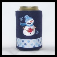 Ready to Ship Snowman Can Cooler