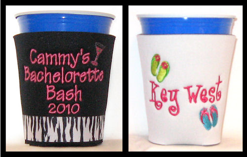 Personalized Plastic Cup Coolers