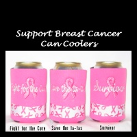Ready to Ship Support Breast Cancer Can Coolers