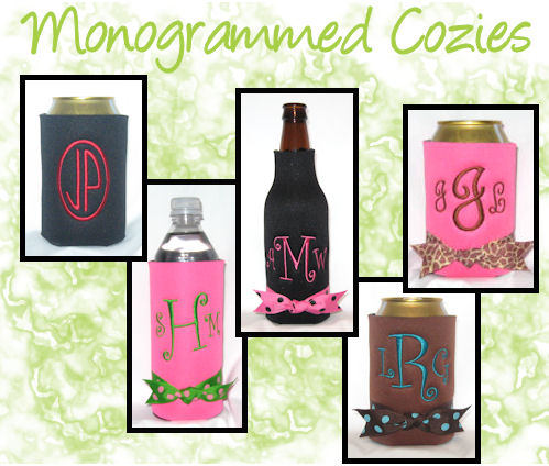 Monogrammed Can Coolers and Monogrammed Bottle Coolers